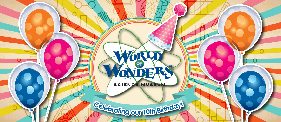 The World Of Wonders Science Museum Is Turning 10 Years Old And Youre Invited To An All Day Party For FREE Enjoy Live Demonstrations WOW Birthday